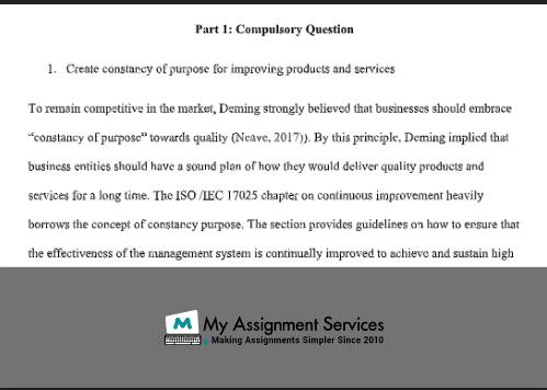 Part 1 Compulsory Question