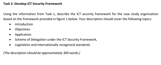 ICT Security Framework Assessment Answer sample