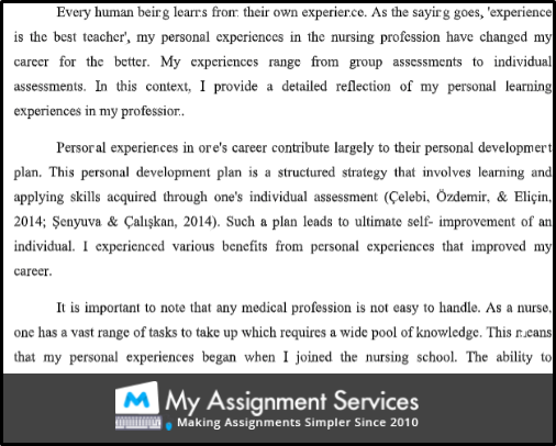 reflective essay assessment 2