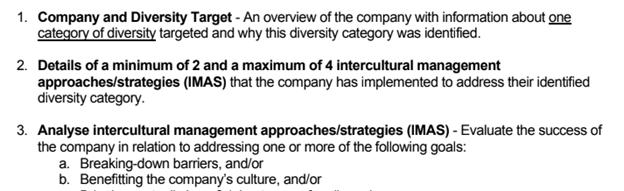 Company Diversity Report sample