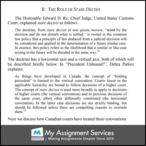 Doctrine Of Stare Decisis 3