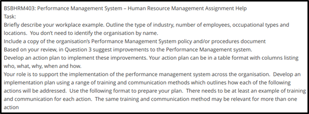 BSBHRM403 management process