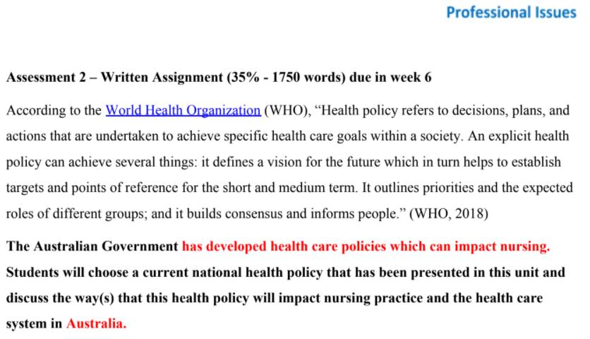 World Health Organization Case Study help