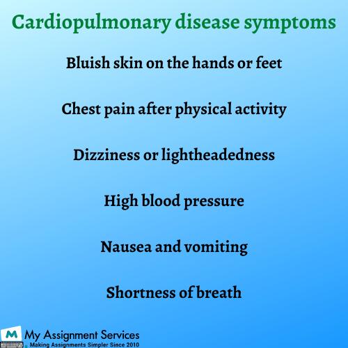 cardiopulmonary disease symptoms