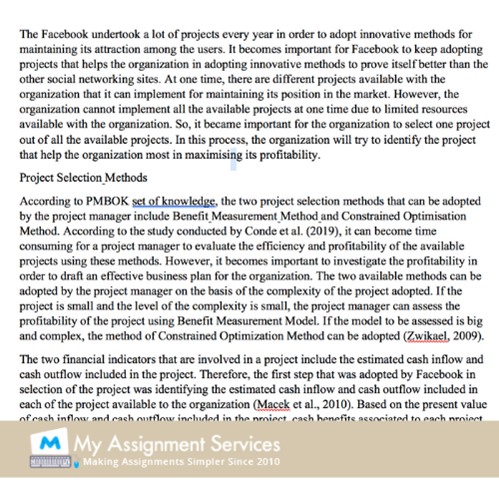 project management assessment 2