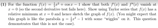 Calculus Homework Sample