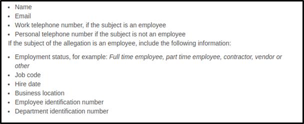 management investigation report sample 2