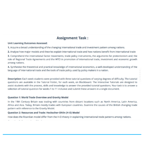 Assignment Sample on WTO