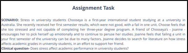 evidence based practice assignment task