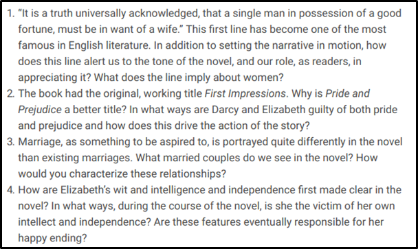 Pride and Prejudice Essay sample