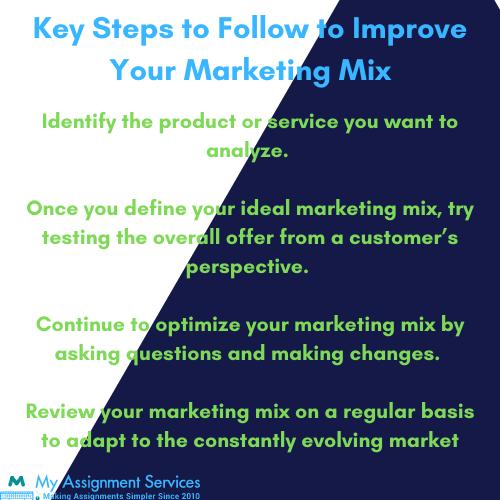 key steps for marketing mix