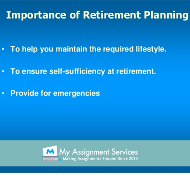 importance of retirement