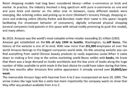 Amazon Case Study Solutions