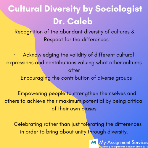 cultral diversity by sociologist