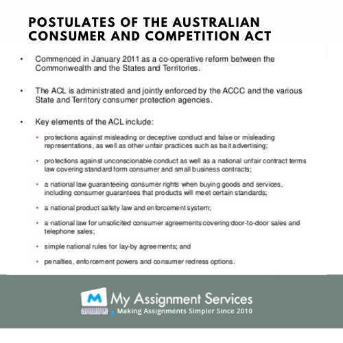 australian consumer and competition act