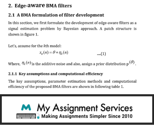 Edge Aware BMA Filters