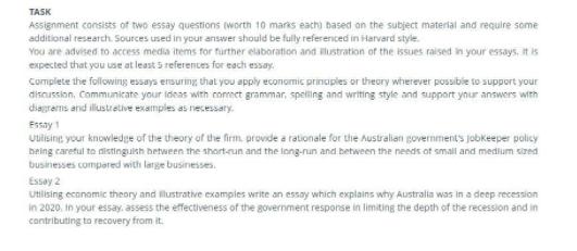 Task essay apply economics principles