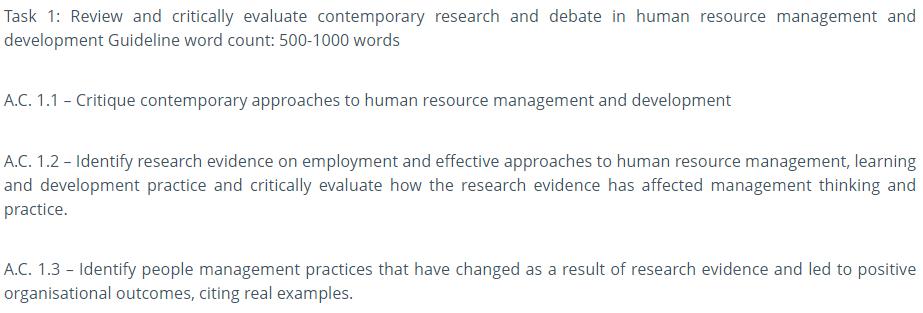 HR Management Sample
