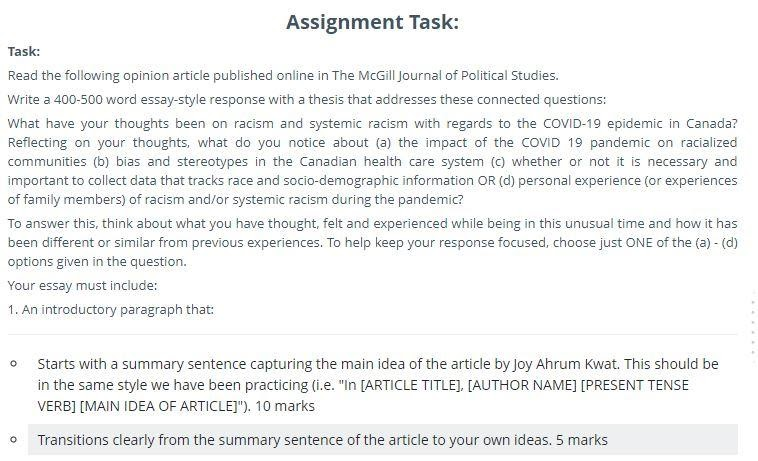 political theory assignment sample
