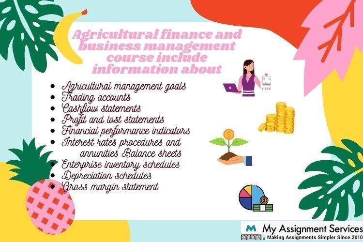 Agricultural Finance And Business Management Assignment Help