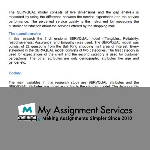 SERVQUAL Model Assignment Sample