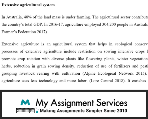 Agroecology assignment solution