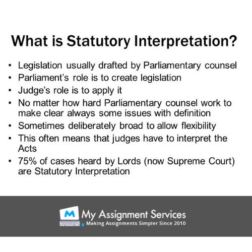 what is statutory interpretation