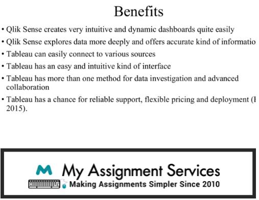 Sample Benefits of Tableau