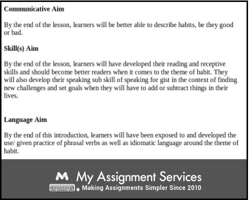 Communicative Aim