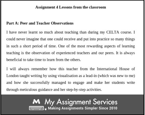 Part A Peer and Teacher Observation
