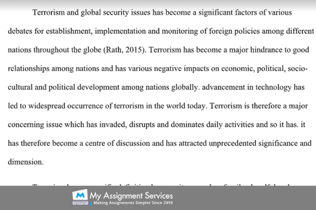 global assignment sample