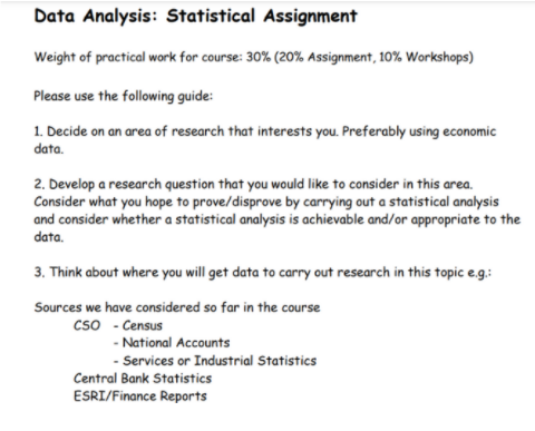 Data Analysis Statistical Assignment
