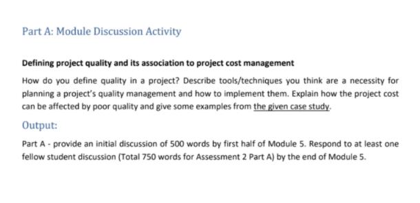 part a module discussion activity