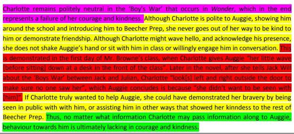 TEEL Paragraph sample