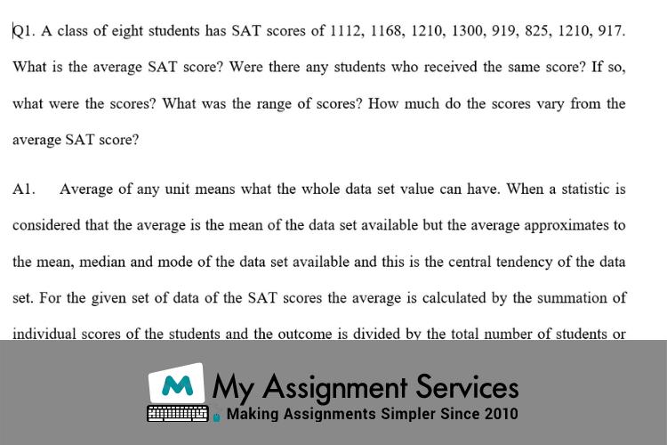 MystatLab Homework Answer Sample