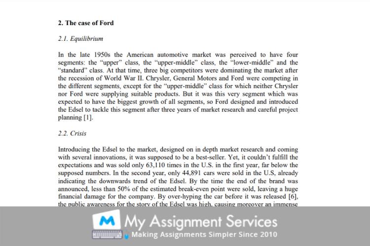 Ford Edsel case study sample