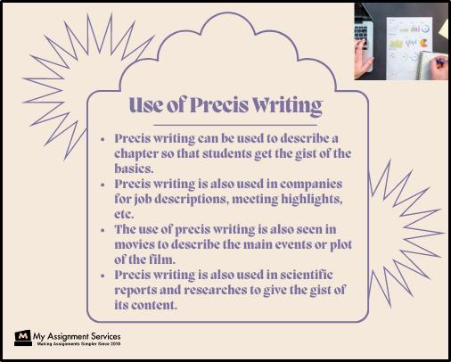 use of precis writing