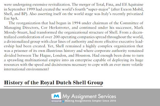 Shell's case study sample
