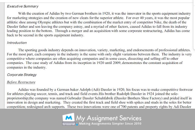 summary of Adidas case study