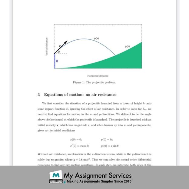 Projectile Motion Model sample