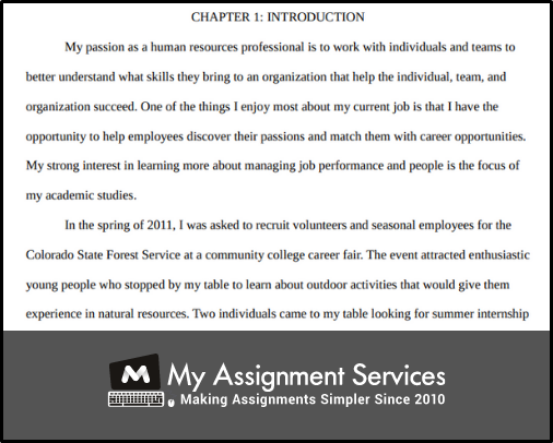 chapters 1 dissertation introduction