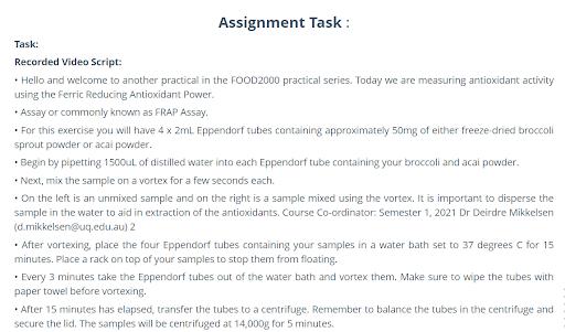 food science antioxidant activity explanation