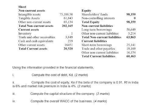 corporate finance assignment rest question part