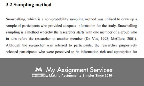 research design sampling method