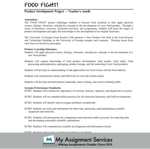 Product Development Project - Food Fight
