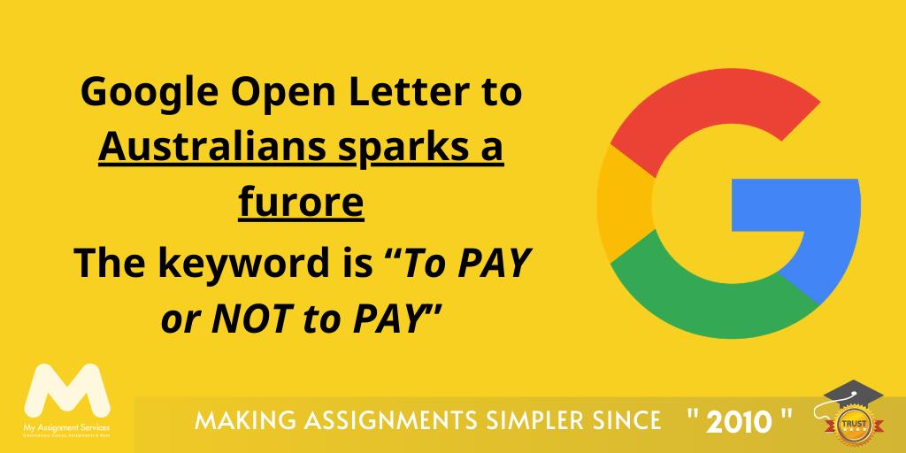 Google Open Letter to Australians