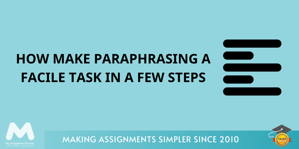 How Make Paraphrasing a Facile Task in a Few Steps?
