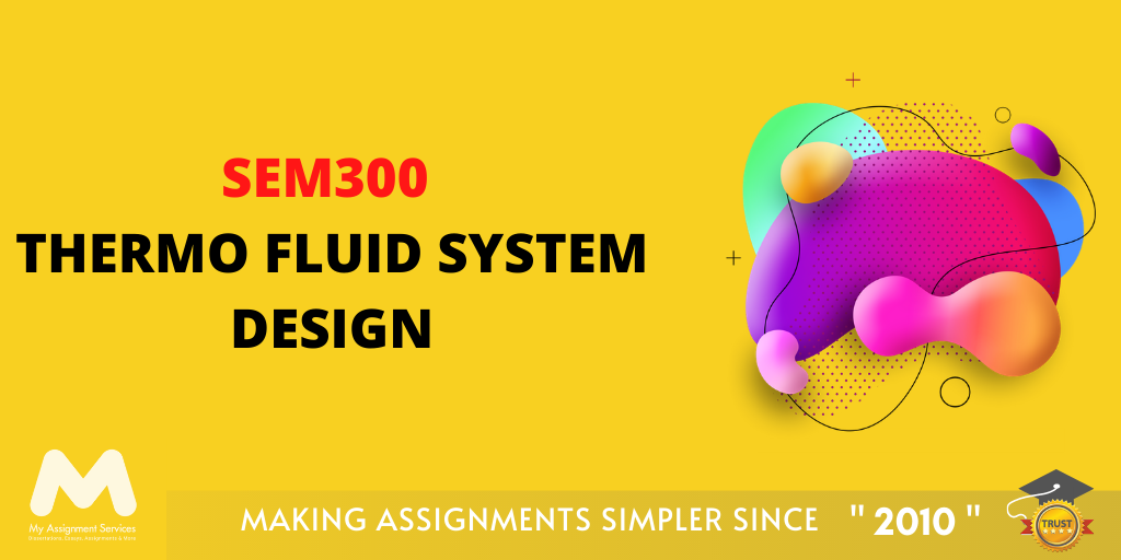 SEM300 Thermo Fluid System Design Assessment Answer