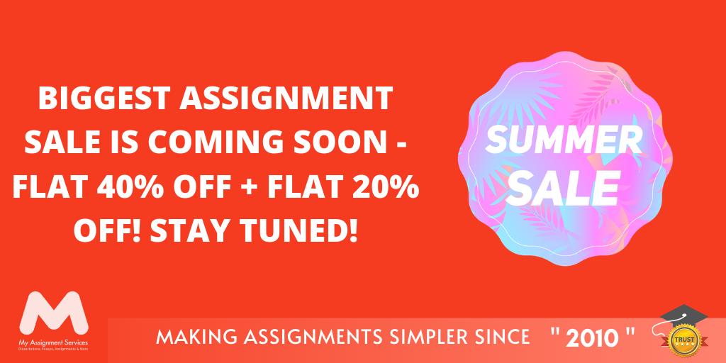 Summer Biggest Assignment Sale