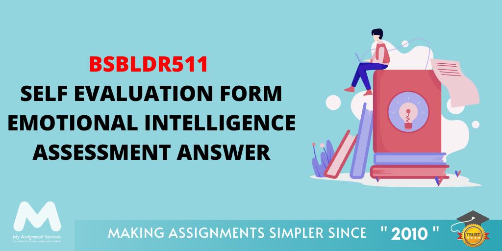 BSBLDR511 Self Evaluation Form Emotional Intelligence